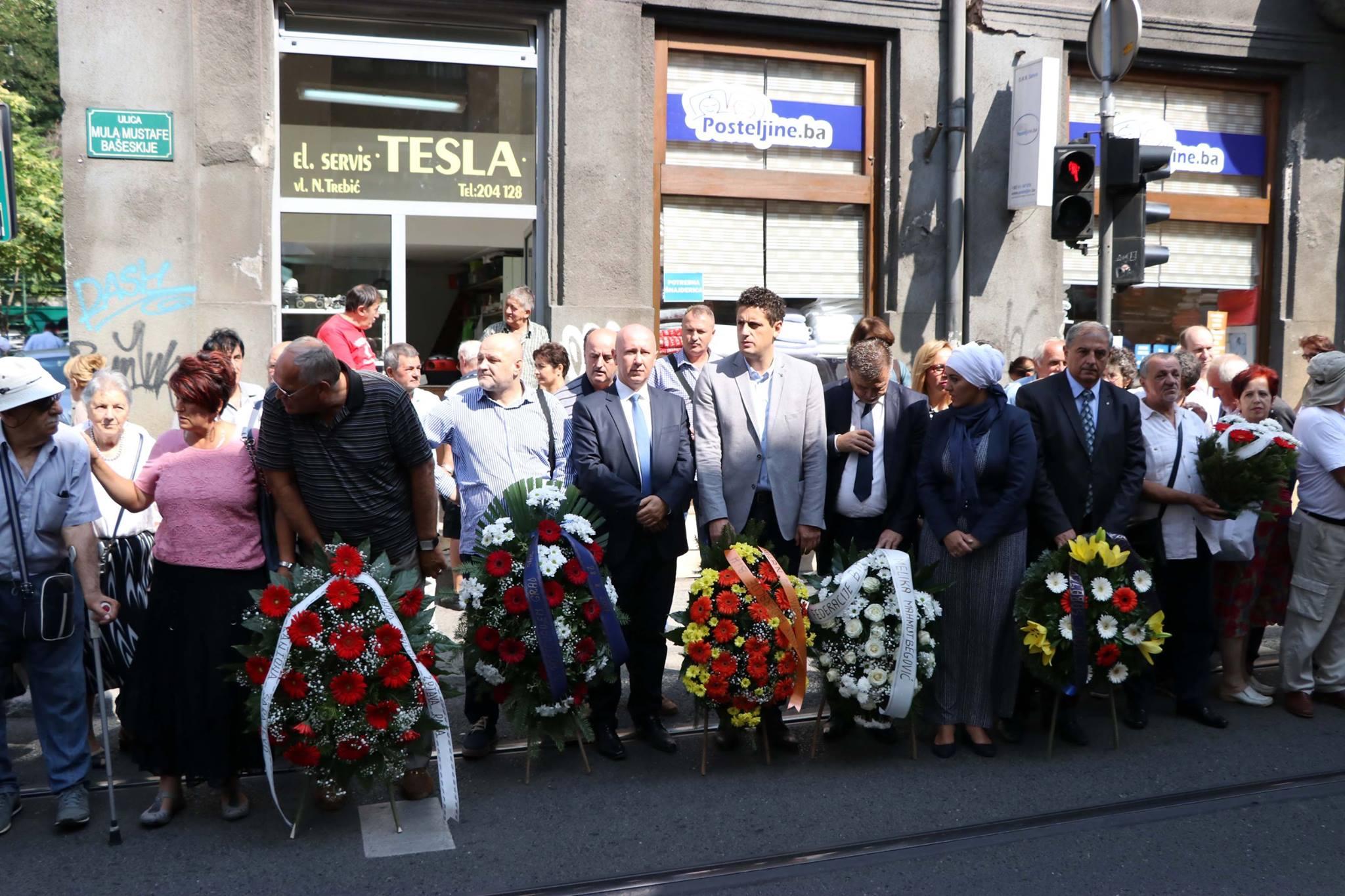 Potpredsjednik FBiH Milan Dunović prisustvovao polaganju cvijeća kod Gradske tržnice u Sarajevu