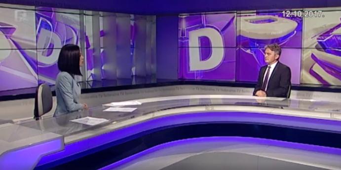 """Predsjednik DF-a Željko Komšić u Dnevniku """"D"""" Federalne televizije"""