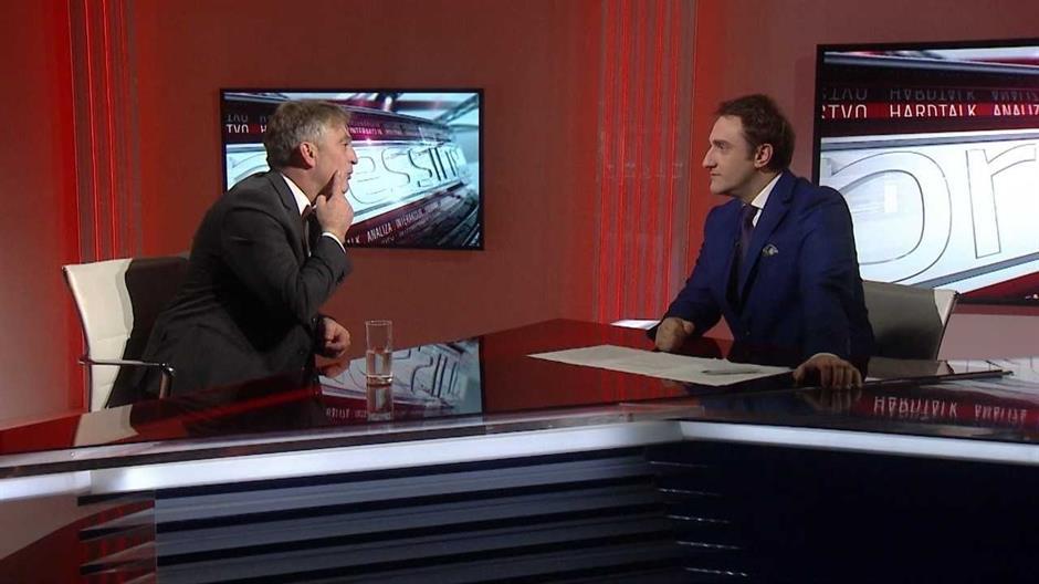 "Željko Komšić u emisiji ""Pressing"" na N1 televiziji"