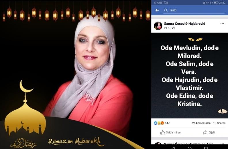 KO DF Sarajevo: Poštovana zastupnice, stidimo se Vašim stidom