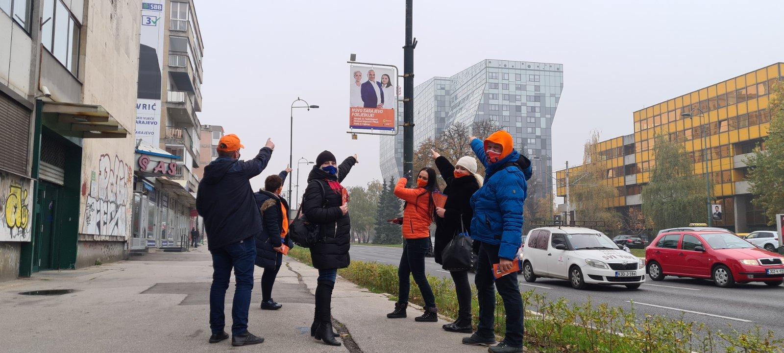 Današnjom šetnjom općinom Novo Sarajevo Koalicija DF – GS završila svoje predizborne aktivnosti