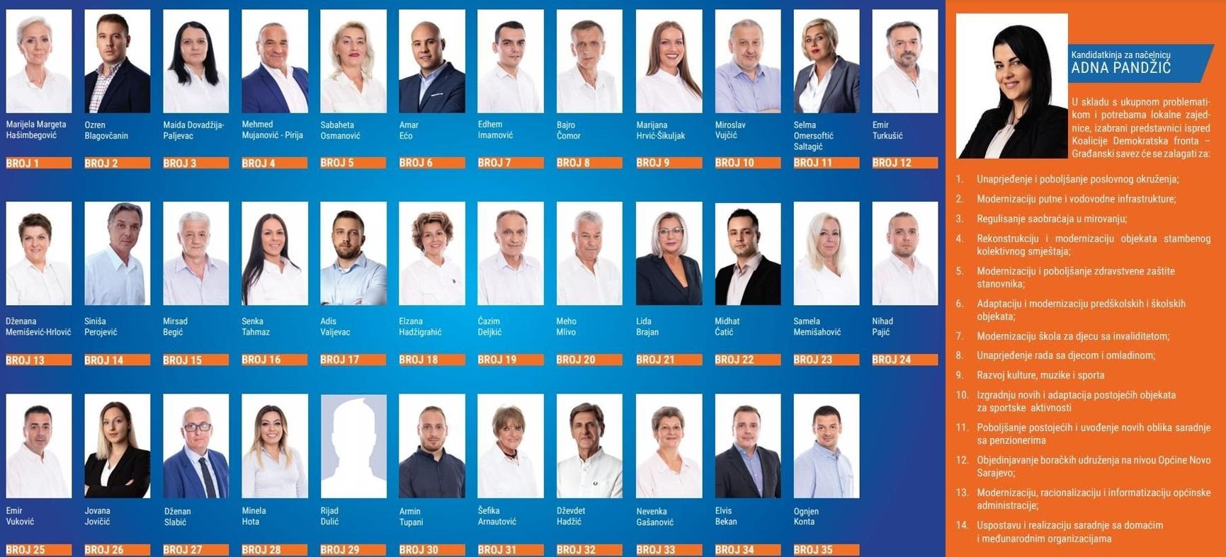 Koalicija DF-GS Novo Sarajevo: Mi imamo našu kandidatkinju, informacije o podršci drugim kandidatima su samo špekulacije