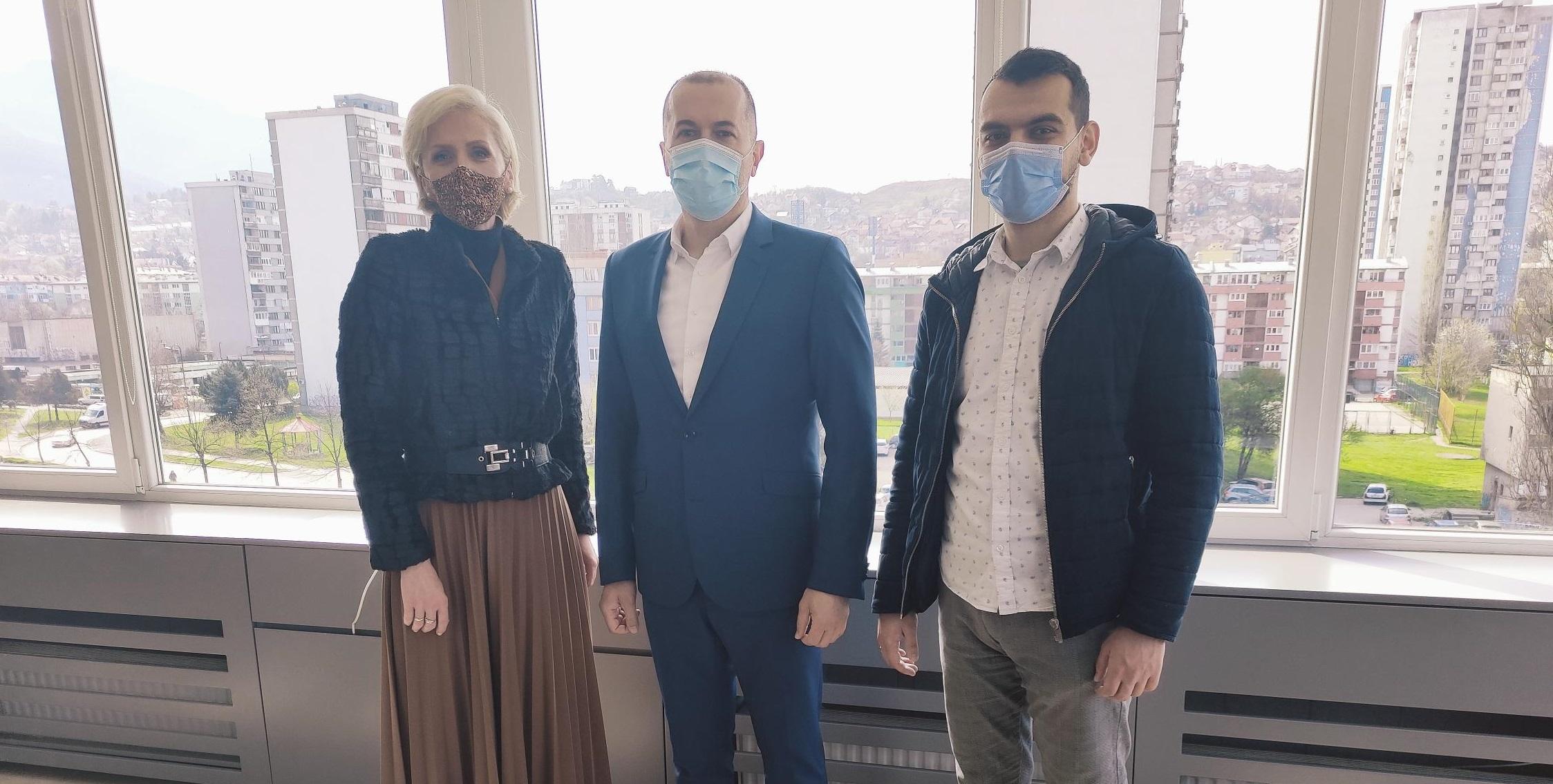Načelnik Općine Novo Sarajevo Hasan Tanović primio vijećnike Koalicije Demokratska fronta-Građanski savez