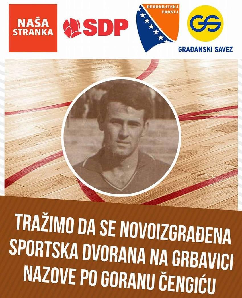 """Dvorana na Grbavici u utorak dobija ime, velika podrška nazivu """"Goran Čengić"""""""
