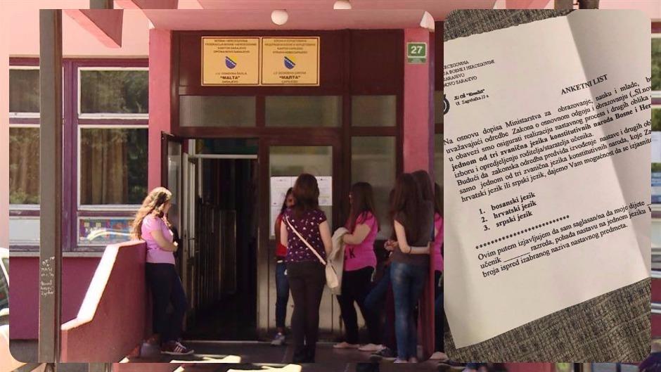 Anketni list o izboru jezika za pohađanje nastave izazvao oštre polemike roditelja na društvenim mrežama